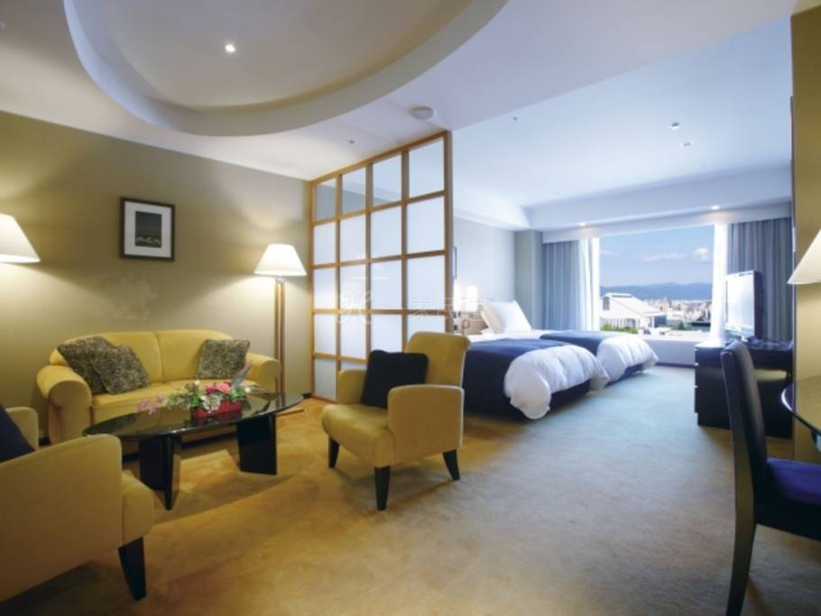 京都格兰比亚大酒店经济双床套房Semi Suite Twin 【吸烟】最优惠房价Best Rate ☆优惠STAY 含早餐