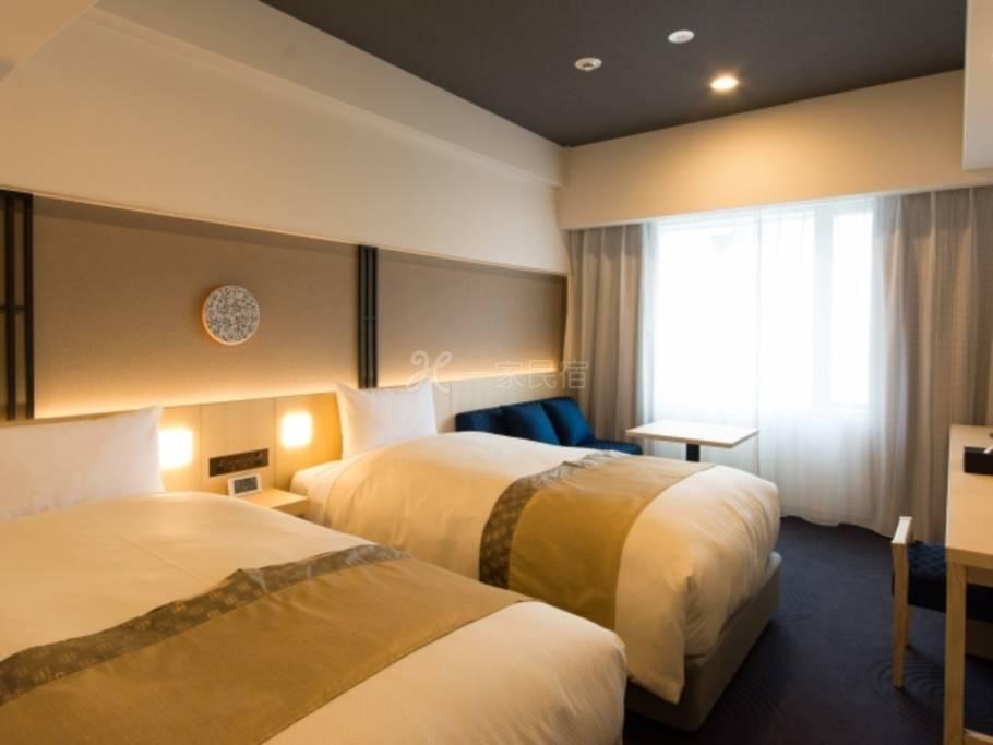 HOTEL GRACERY 京都三条南馆<吸烟>标准双床房B标准方案<纯住宿>