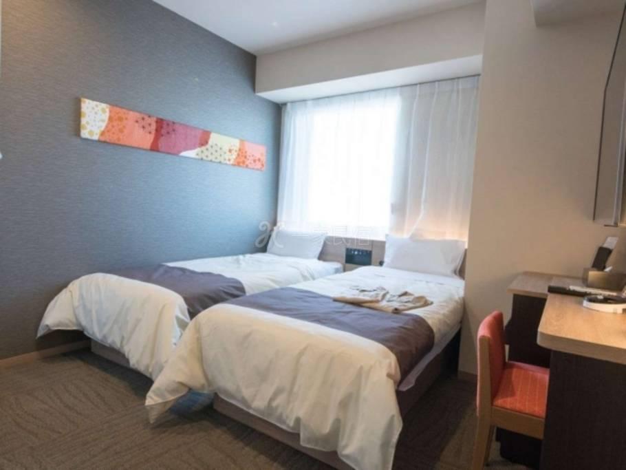 东京西葛西海茵娜酒店标准双床房Standard Twin Room【早鸟优惠30】舞滨站免费接送■全客房备有LG机器人清净机■
