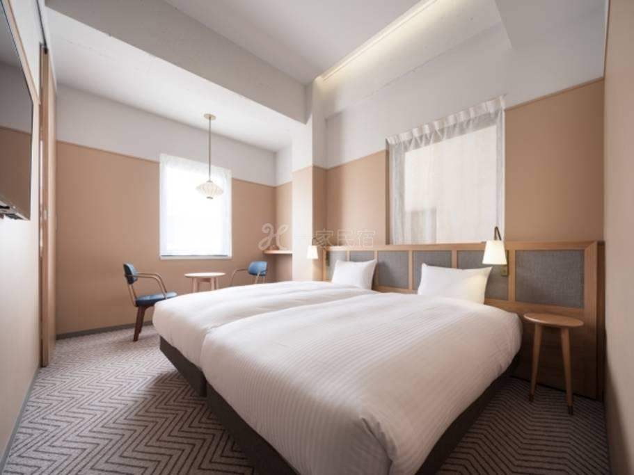 RAKURO京都- THE SHARE酒店-标准双床房Standard Twin/最多入住2名客人/19㎡◆1名利用◆【提前6
