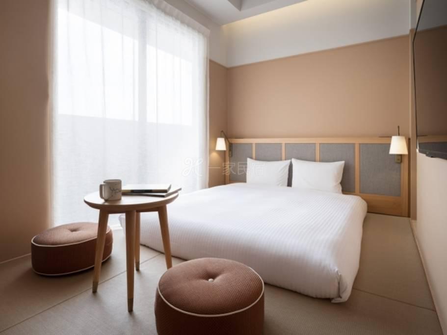 RAKURO京都- THE SHARE酒店-标准大床房Standard Duoble(和室)◆1名利用◆「标准」附早餐/西京烧