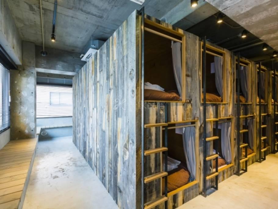 KIKKA宿舍型客房男女共用单人床1张宿舍房间共用浴室