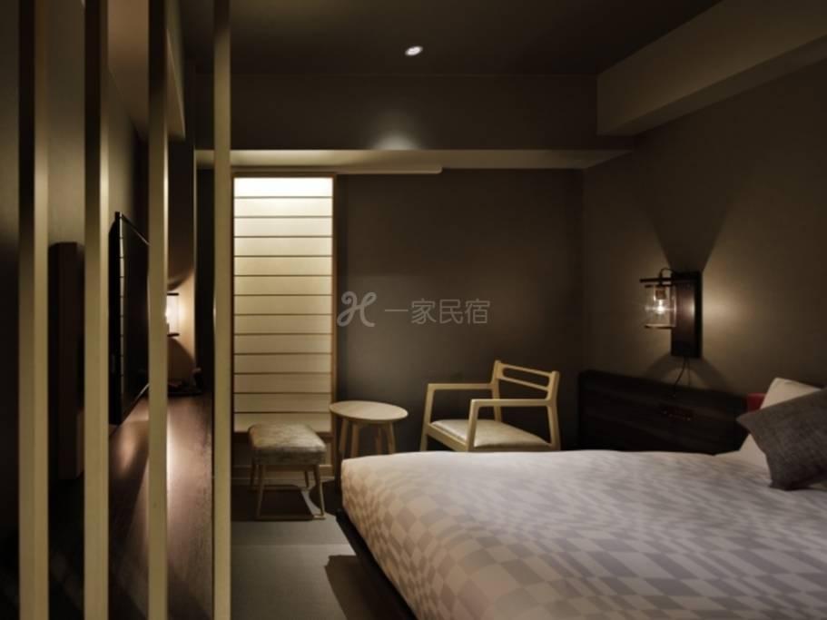 京都河原町三条瑞索饭店标准单人房Moderate Single商务.个人旅游标准方案在瑞索京都STAY