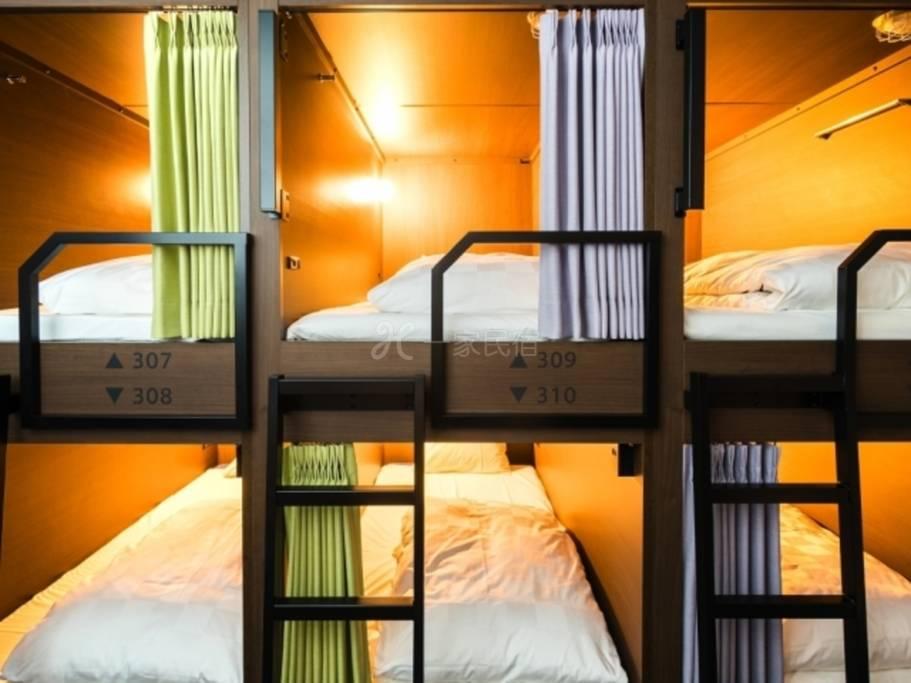 GRIDS 京都四条河原町饭店「男女共用」宿舍型(12人房) 使用12张床中其中1张7天前早鸟优惠方案纯住宿
