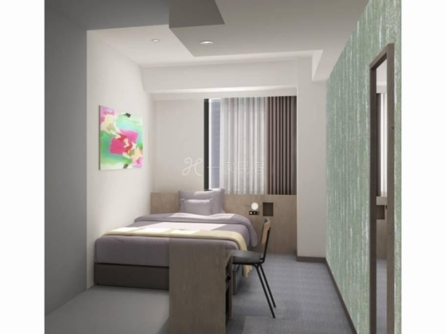Hotel Sobial Namba Daikokucho单人房Single【早鸟限定】早鸟28方案。含早餐