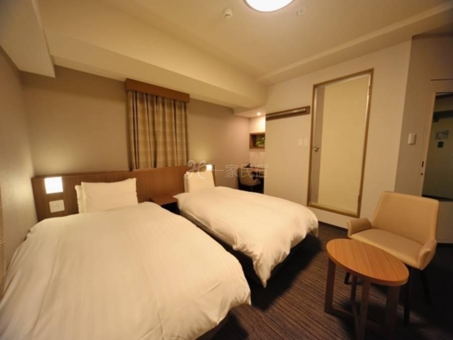 多美迎EXPRESS目黑青叶台双床房Twin Room 25平米【单纯住宿】在中目黑享受疗愈的简单住宿