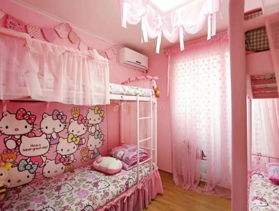 4人间的hello kitty可爱粉色房间