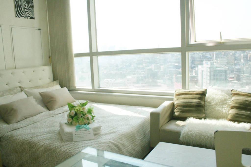 首尔市中心公寓  有很多餐厅和购物中心