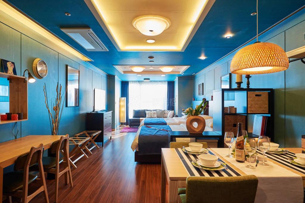 韩国首尔专业设计师设计的工作室E  可住六人