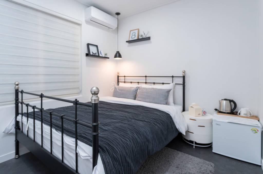 首爾單間出租 雙人床房屋