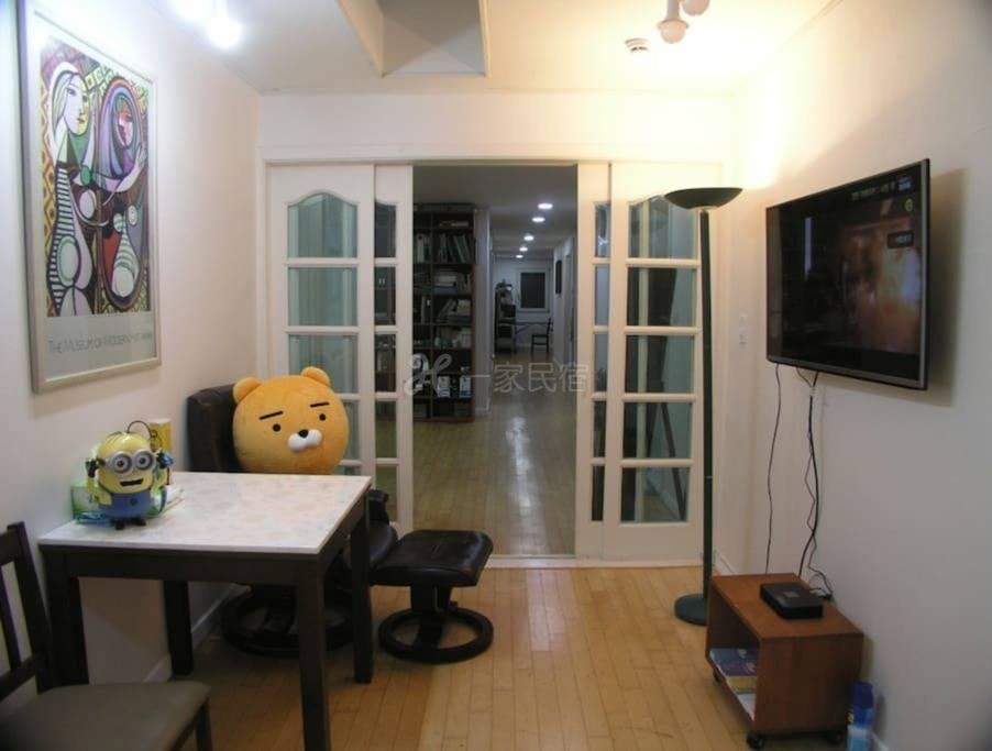 Sinsa Dong和Garosugil的美丽空间,两房公寓