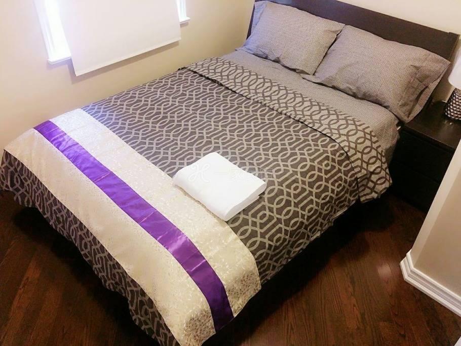 舒适清洁安静的 大床卧室 -美丽的家