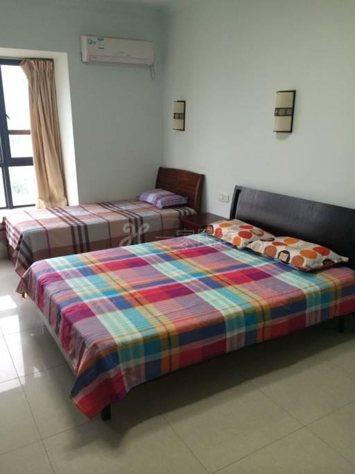 三亚快乐岛公寓,海景大床房