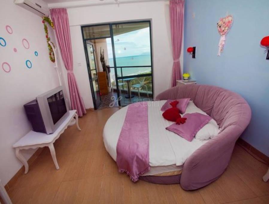 度假公寓-海景圆床房2