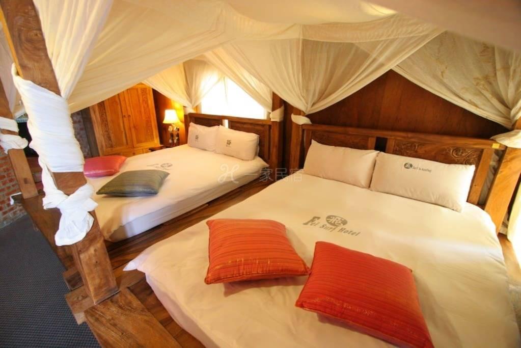 垦丁阿飞冲浪旅店 - 峇里岛风面海4人房