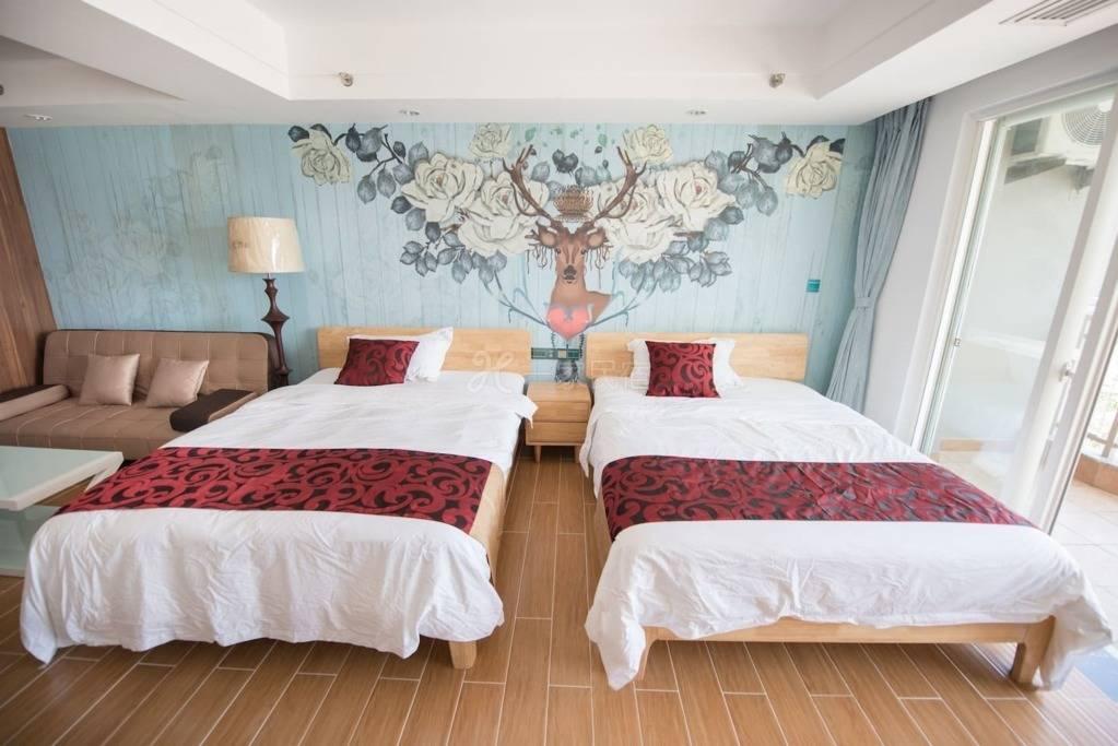 三亚180度无敌海景酒店式公寓双床近大东海 新装修!
