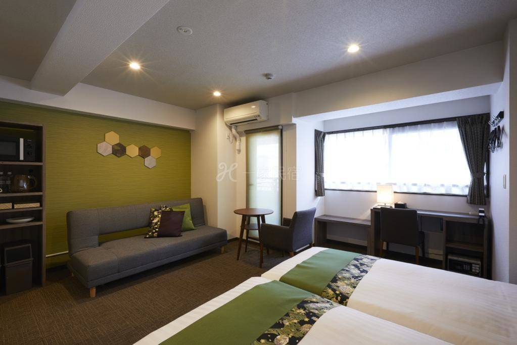 京都祇园毘沙门酒店式公寓 带沙发的双人间