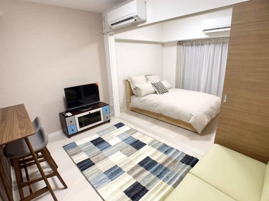 OSAKA机场接送 & 黑门市场1分 高级公寓日本桥车站 1卧室 1302