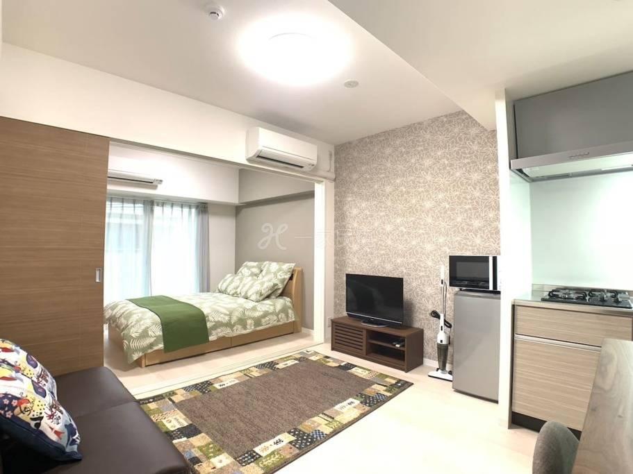 OSAKA机场接送&黑门市场 1分 高级公寓日本桥车站 1卧室  1201