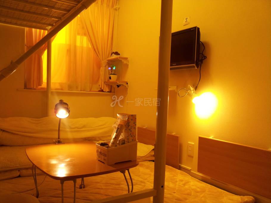 4/4距离JR八王子车站徒步5分钟之东京8home东京民宿【八王子之家】 - 阁楼床和式房