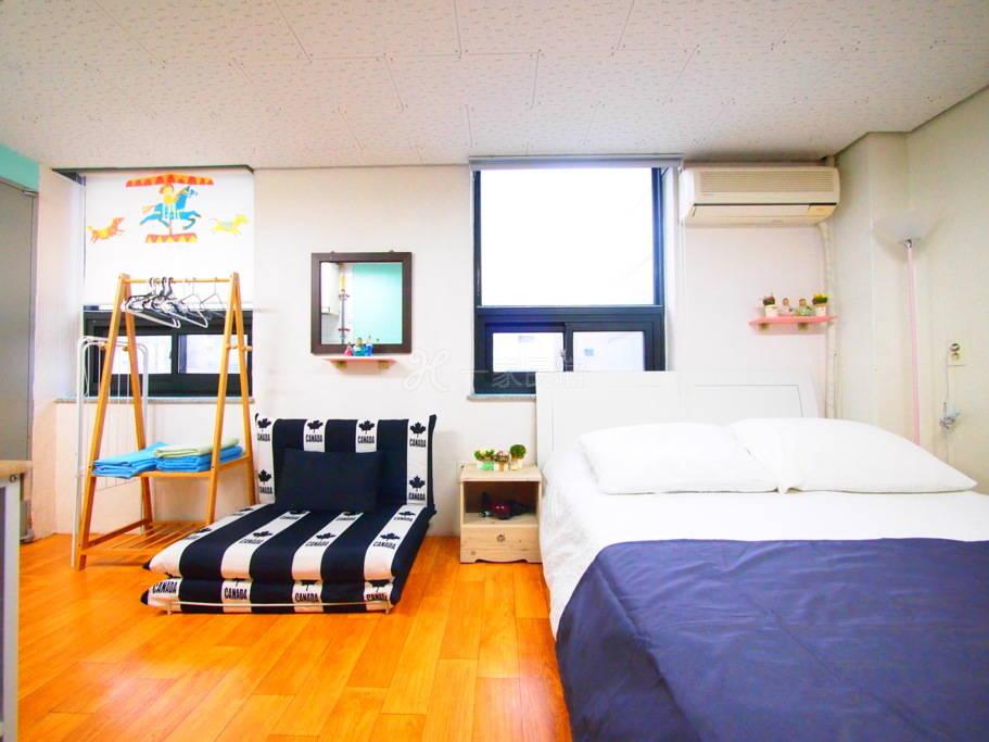 3人房#P(干净、温馨、简洁,距离首尔站5分钟)