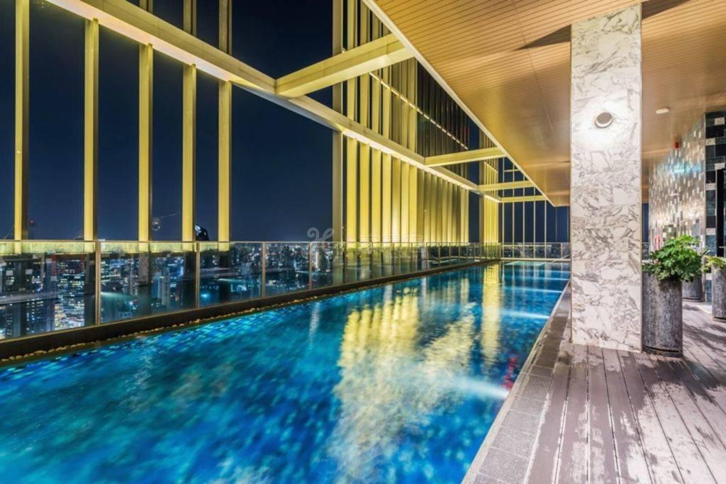 曼谷完美體驗素坤逸24摩登工作室A 空中健身房 40米無邊際高空泳池 桑拿瑜伽 緊鄰BTS EM商圈