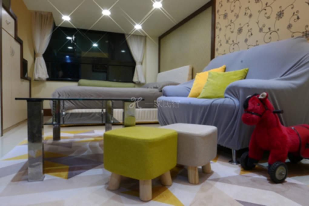 家庭开放式公寓可住2-4人,设厨房洗衣机