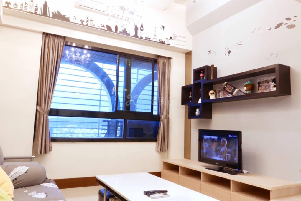 典雅开放式公寓可住2-5人,设厨房洗衣机
