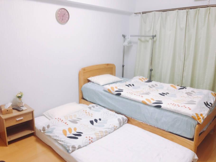 福冈市中心 独立卧室 天神站步行10分 温馨干净