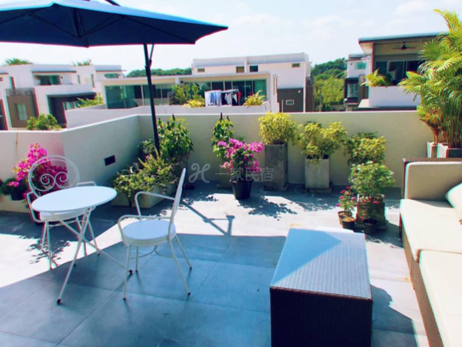 Sky villa 带独立花园的大房间