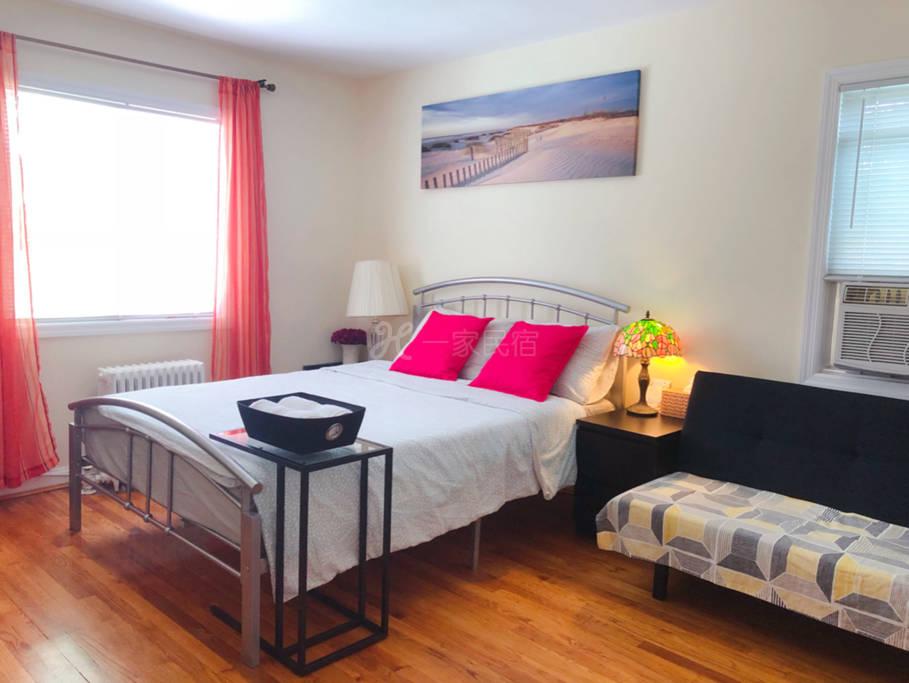 紐約法拉盛溫馨大房間可住3人