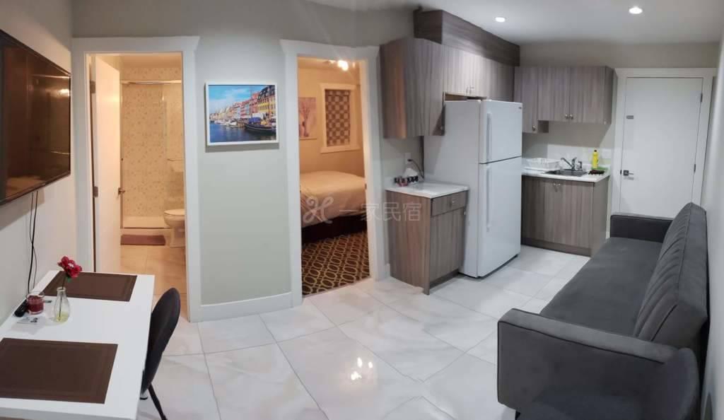温哥华全新的套间,1客厅,1厨房,1睡房