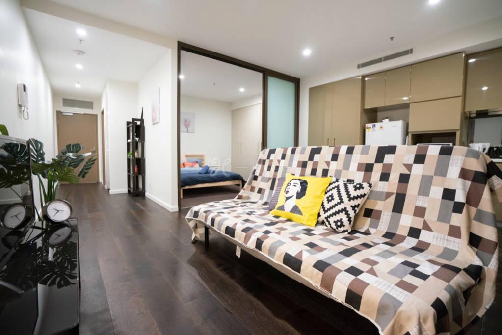 悉尼市中心CBD公寓一室一厅 简约便利
