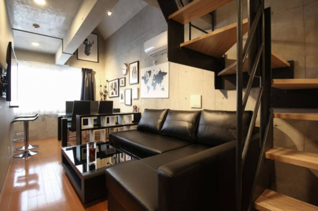 #401东京新宿区步行车站5分钟两室一厅loft公寓