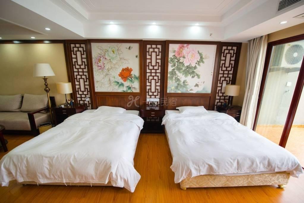 三亚180度无敌海景酒店式公寓双床近大东海