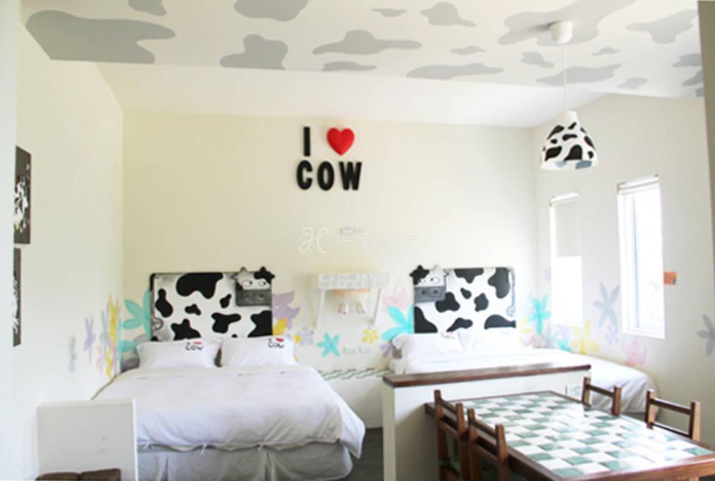 垦丁牧场旅栈和二手童话乳牛四人房B3