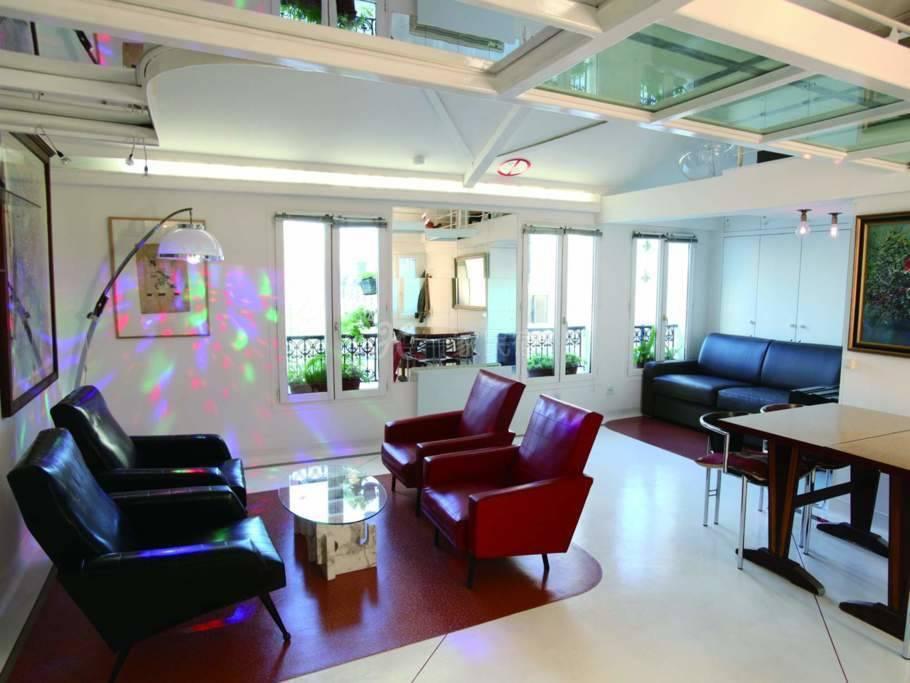 巴黎市中心蓬皮杜复式公寓