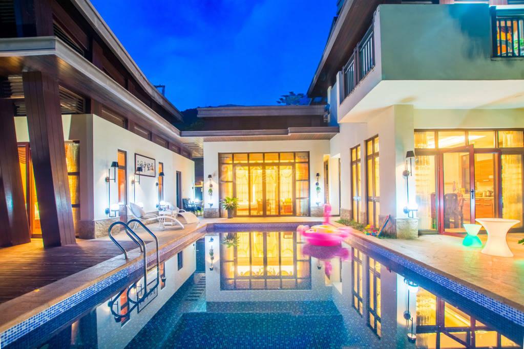 三亚亚龙湾奢美浪漫泳池三居别墅