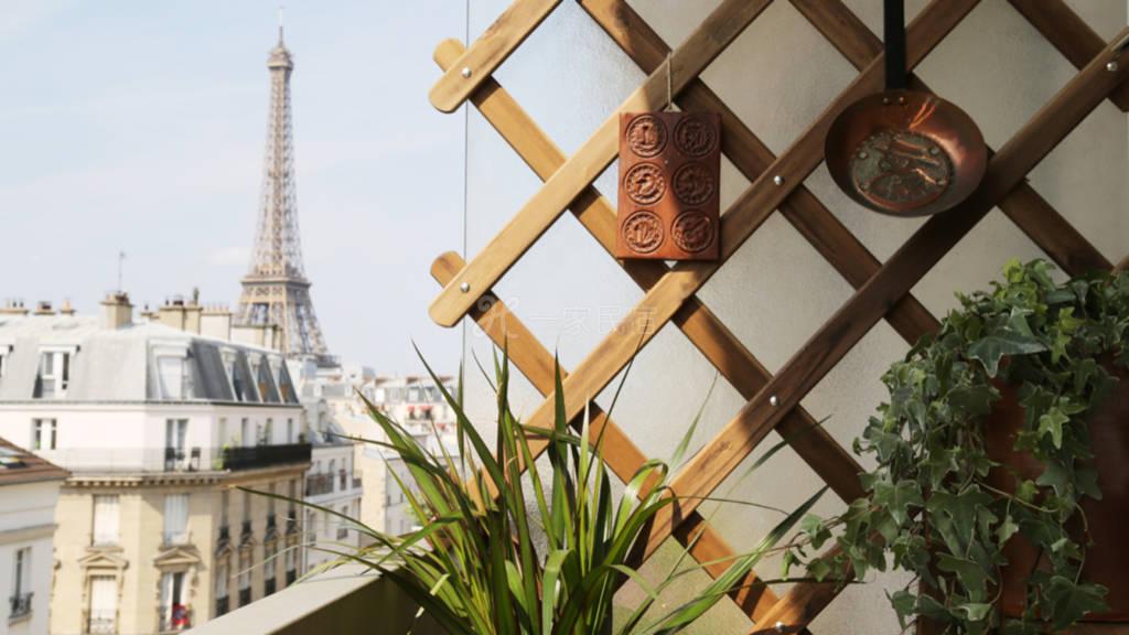 巴黎铁塔全景带阳台公寓距离铁塔950米