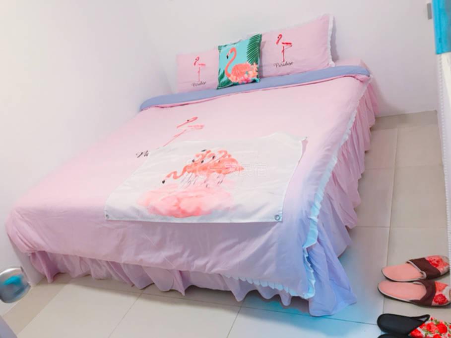 紫色火烈鸟 高级双人床