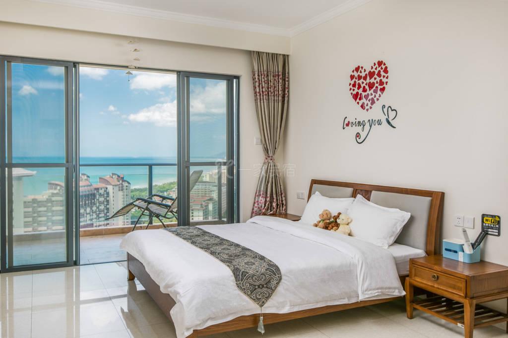 三亚湾椰梦长廊温馨高层海景一居室